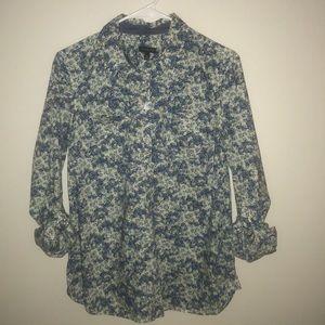 🇺🇸Talbots floral print blouse size 8